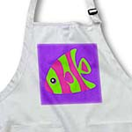 click on Cute Bright Green and Pink Stripe Tropical Fish on Purple to enlarge!