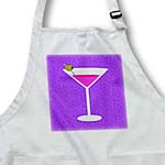 click on Bright Pink Martini in Glass with Olive - Purple Background to enlarge!