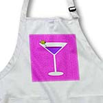 click on Bright Purple Martini in Glass with Olive - Pink Background to enlarge!