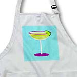 click on Bright Green Margarita in Glass with Lime - Blue Background to enlarge!