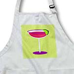 click on Bright Pink Margarita in Glass with Lime - Green Background to enlarge!