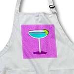 click on Bright Blue Margarita in Glass with Lime - Purple Background to enlarge!