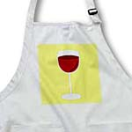 click on Wine Lover Gift - Red Wine on Yellow to enlarge!