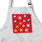 click on Red Polka Dot and Flowers Whimsical Art to enlarge!