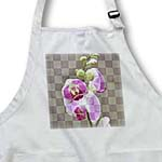 click on Pink Orchids Checkered Print - Floral Print to enlarge!