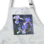 click on Spring Iris Flowers - Vintage Inspired Floral Print to enlarge!