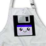 click on Kawaii Cute Happy Floppy Disk - Retro 90s computer storage disk - Whimsical Smiley in Blue to enlarge!