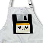 click on Kawaii Cute Happy Floppy Disk - Retro computers - Japanese Anime Smiling cartoon with orange label to enlarge!