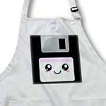 click on Kawaii Cute Happy Floppy Disk - Retro computer Nerd - Japanese Anime Smiley cartoon with pink label to enlarge!