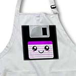 click on Kawaii Cute Happy Floppy Disk - old school computer - Japanese Anime Smiley cartoon in purple to enlarge!