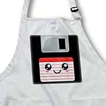 click on Kawaii Cute Happy Floppy Disk - Geeky Retro computer - Japanese Anime Smiley cartoon with red label to enlarge!