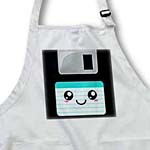 click on Kawaii Cute Happy Floppy Disk - Retro computer Geek - Anime Smiley cartoon Turquoise Teal label to enlarge!
