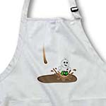 click on Cute Drip Guy Splashing in Coffee or Chocolate Puddle - fun whimsical fake stain unique novelty gift to enlarge!