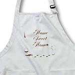click on Cute Drip Guy Writing Home Sweet Home with Coffee or Chocolate Paint - fun fake stain unique gift to enlarge!