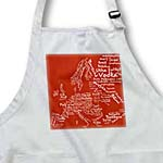 click on Red Typography Food Map of Europe made from words of local world cuisine dishes - Foodie gifts to enlarge!