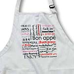 click on Red Bon Appetit Kitchen Typography Text Art - Words for Enjoy Your Meal in many languages to enlarge!