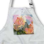 click on Peach Roses Romantic Floral Print - Flowers to enlarge!
