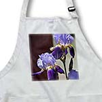 click on Pretty Purple Iris Garden - Spring Flowers - Floral Print to enlarge!