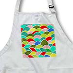 click on Colorful Japanese Fish Scale Pattern - red green yellow coral blue turquoise - multicolor curves to enlarge!
