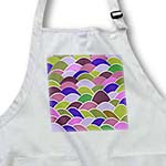 click on Colorful Japanese Fish Scale Pattern - lilac violet purple pink yellow green - multicolor waves to enlarge!