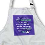 click on Irish blessing rhyme for courage bravery and independence - rhyming poem typography - Purple - Fly to enlarge!