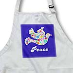 click on Floral White dove of peace flying on midnight blue - flower power - hippy - hippie - modern girly to enlarge!