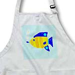 click on Bright Blue Orange and Yellow Fish Swimming With Bubbles to enlarge!