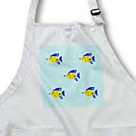 click on Pattern of Bright Blue Orange and Yellow Fish Swimming With Bubbles to enlarge!