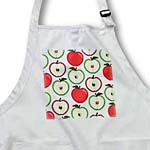 click on For the Kitchen - Half Apple Print White to enlarge!