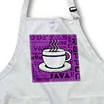 click on Coffee Lover Gift - Coffee Words Print - Purple to enlarge!