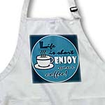 click on Coffee Lover Gift - Life is Short Enjoy Your Coffee - Blue to enlarge!