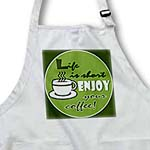 click on Coffee Lover Gift - Life is Short Enjoy Your Coffee - Green to enlarge!