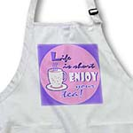 click on Tea Lover Gift - Life is Short Enjoy Your Tea - Pink to enlarge!