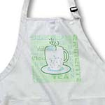click on Tea Lover Gift - Tea Words Print - Green to enlarge!