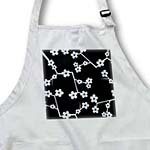 click on Delicate Cherry Blossoms Print - Blue on Black to enlarge!