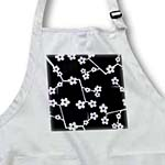 click on Delicate Cherry Blossoms Print - Purple on Black to enlarge!