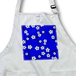 click on Bright Cherry Blossoms Print - Royal Blue to enlarge!