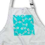 click on Bright Cherry Blossoms Print - Aqua Blue to enlarge!