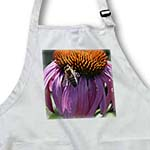 click on Naturally Beautiful Inspired Pink Echinacea Flower with Bee to enlarge!