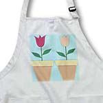 click on Two Potted Tulips - Pretty Floral Art - Flowers to enlarge!