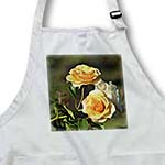 click on Beautiful Peachy Yellow Roses - Garden Flowers - Floral Print to enlarge!