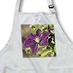 click on Garden Flowers - Purple Clematis - Inspired Floral Print to enlarge!