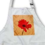 click on Red Gerbera Flower with Decorative Wall Paper - Floral Print to enlarge!