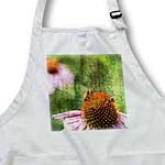click on Inspired Echinacea Flower with Two Bees - Floral - Garden to enlarge!
