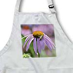 click on Pretty Summer Pink Echinacea Flower with Bee - Inspired Floral Print to enlarge!