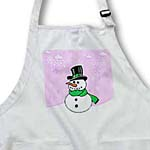 click on Snowman with Wintery Light Purple Snow Scene to enlarge!