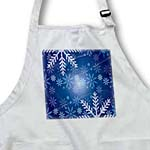 click on Snowy Winter with Blue Design Background to enlarge!