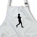 click on Black Silhouette Painting of a Woman Runner Running to enlarge!
