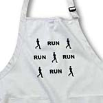 click on Black Silhouette Painting of a Woman Runner Running and the Word Run Pattern to enlarge!