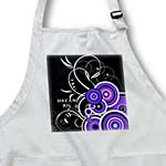 click on Purple n Fuchsia Swirly Scrolls On Black With Message to enlarge!